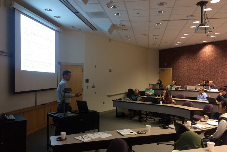 Dr. Loughner presenting