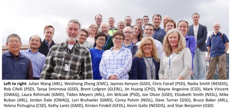 Group of 27 people and their names and NOAA office affiliations,