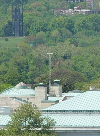 DCNet tower on the roof of the National Academy of Sciences, Constitution Avenue.