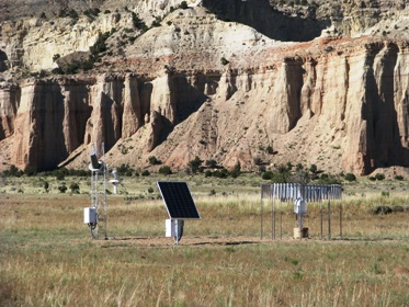 Solar-powered USHCN-M Station in Tropic, Utah